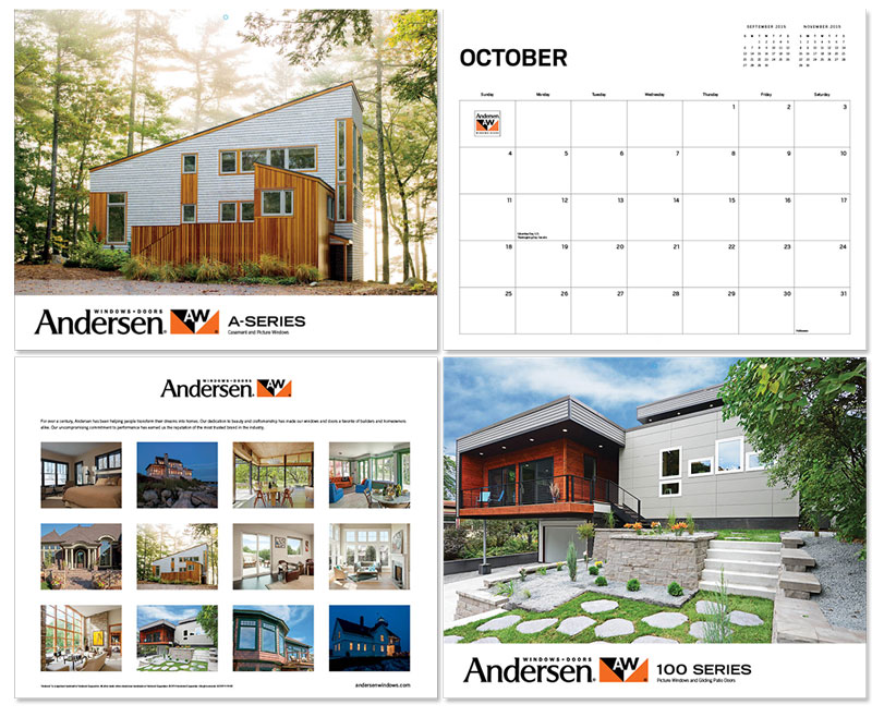 Andersen Windows calendar samples